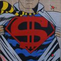 superman con cravatta giallo nero