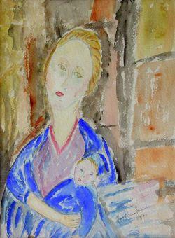MATERNITA' (omaggio a Modigliani) - Anno 1990