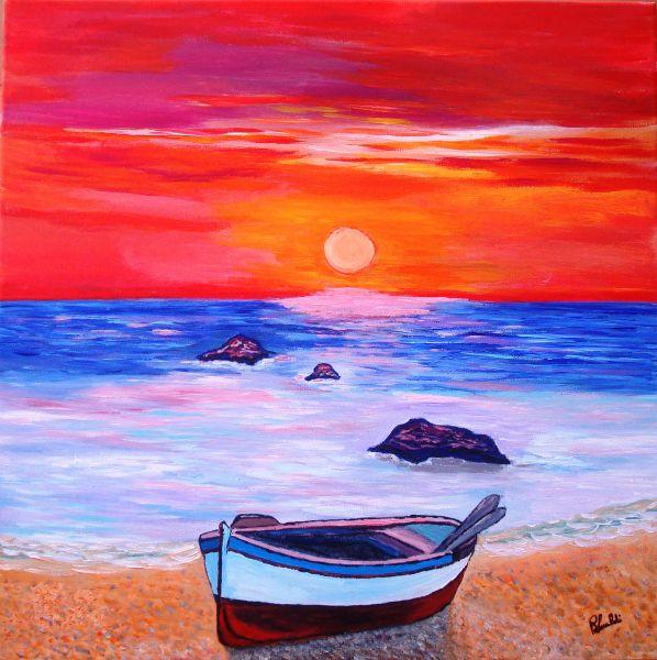 Paesaggio marino opera d 39 arte di renato lualdi for Disegno paesaggio marino
