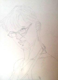 Bozzetto per ritratto di Claudia