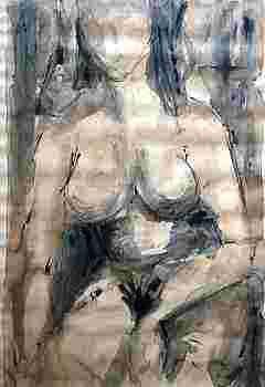 Nudo seduto - 1959
