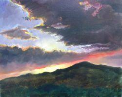 PAESAGGIO e tramonto sul Monte Serra-2012