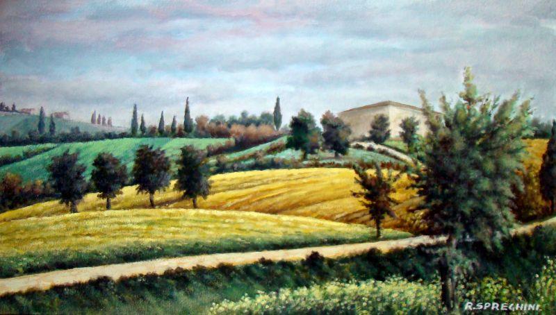 paesaggio toscano - Opera d\'arte di Roberto Spreghini