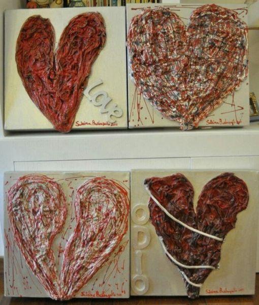 Le quattro emozioni del cuore - Opera d\'arte di Sabrina Barbagallo