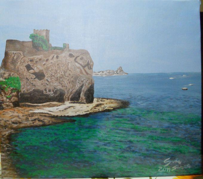 Vista sul mare aci castello ct opera d 39 arte di salvo for Arte arredi sciacca