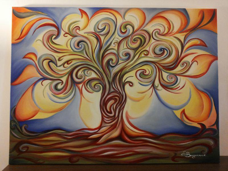 Favoloso L'albero della vita - Opera d'arte di Sandra Bongarzone GQ65