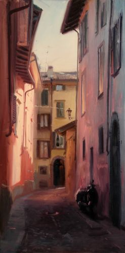 A street in pink