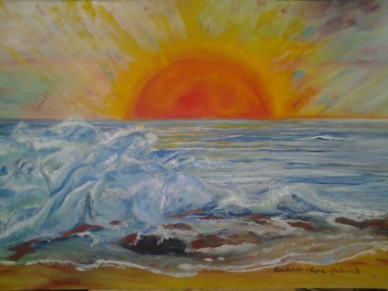 Preferenza mare pittore - Opera d'arte di Sma QB08