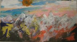 ALMA Alps Landscape Mountains Abstract