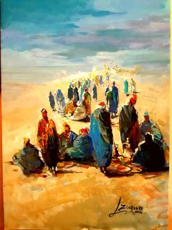 Beduini nel deserto