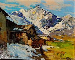 Scena di montagna in Val Trompia