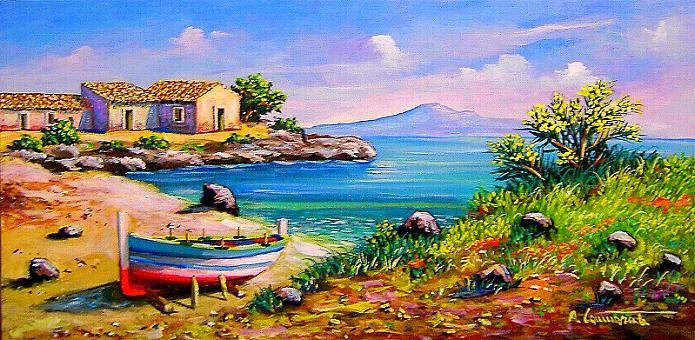 Antonino cammarata for Disegni di paesaggi colorati