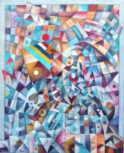 Tra geometria cromatica pianto la mia bandiera