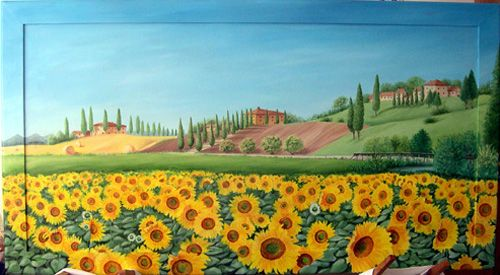 colline toscane - Opera d\'arte di paola petrucci