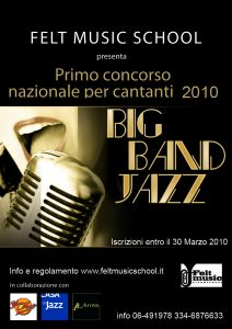 Concorso nazionale per cantanti big band jazz @ felt music club