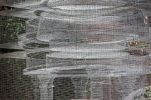 Edoardo tresoldi, cube temple, an ethereal creation of wire mesh in singapore