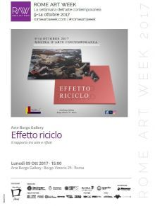 Effetto riciclo - romeartweek