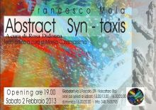 Syn-taxis abstract alla globalart personale di francesco mola